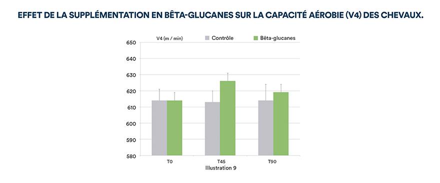 Effet de la supplémentation en bêta-glucanes sur la capacité aérobie (V4) des chevaux