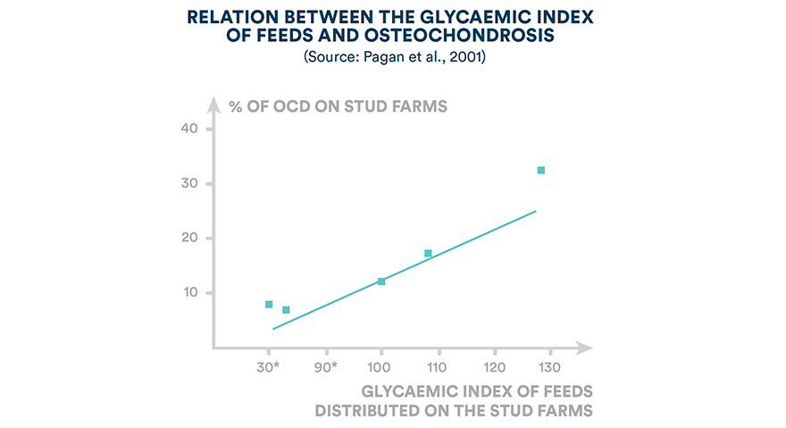 Relation between the glycaemic index of feeds and osteochondrosis